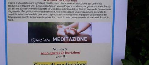 CORSI DI TECNICHE DI MEDITAZIONE E PREPARAZIONE AL …